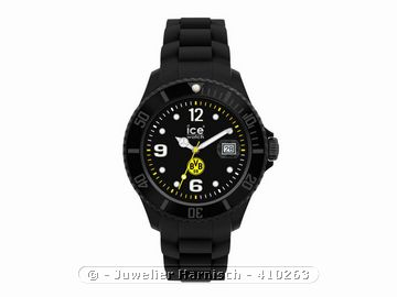 ice watch bvb uhr big limited edition schwarz oe bvb bk. Black Bedroom Furniture Sets. Home Design Ideas