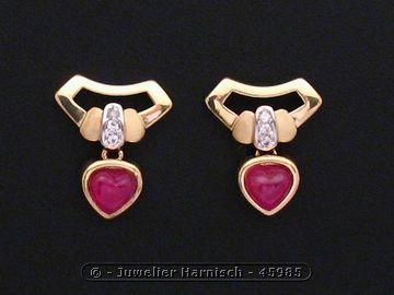 gold ohrringe gold 585 rubin zirkonia 45985. Black Bedroom Furniture Sets. Home Design Ideas