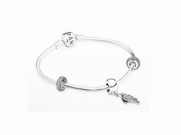 PANDORA HIGH SUMMER SET - 590702HV Armband 18 cm + 791359CZ + 791750CZ Charms