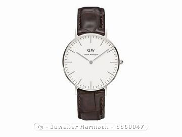 daniel wellington uhr 0610dw york silber 36 mm. Black Bedroom Furniture Sets. Home Design Ideas