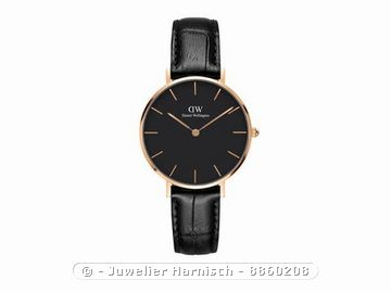 daniel wellington uhr classic petite reading schwarz. Black Bedroom Furniture Sets. Home Design Ideas