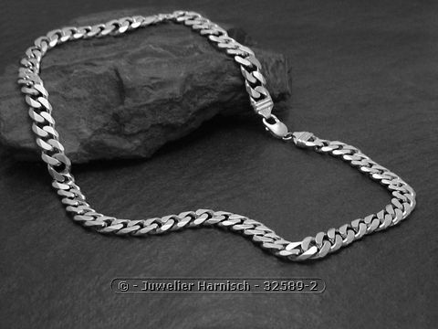 Panzerkette  Panzerkette 60 cm - massiv 925 Sterling Silber 114,5 g - 11,3 mm 32589