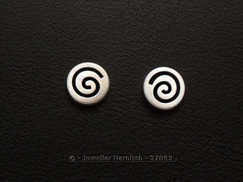 Silberschmuck ohrstecker  Ohrstecker KREISEL - 925 Sterling Silber - Ohrringe 37863