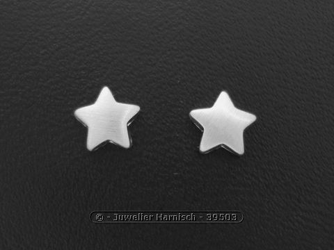 Silberschmuck ohrstecker  Ohrstecker Stern - Sterling Silber Silberschmuck 39503