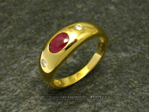 rubin diamanten gold ring poliert gr 56 18 400023. Black Bedroom Furniture Sets. Home Design Ideas