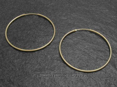 creolen 4 4 cm gold 585 sch n poliert 42923. Black Bedroom Furniture Sets. Home Design Ideas